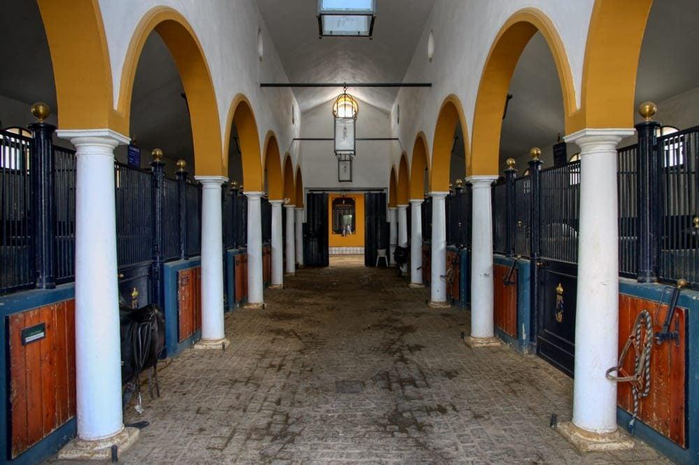 cuadras de la Real Escuela del Arte Ecuestre en Jerez
