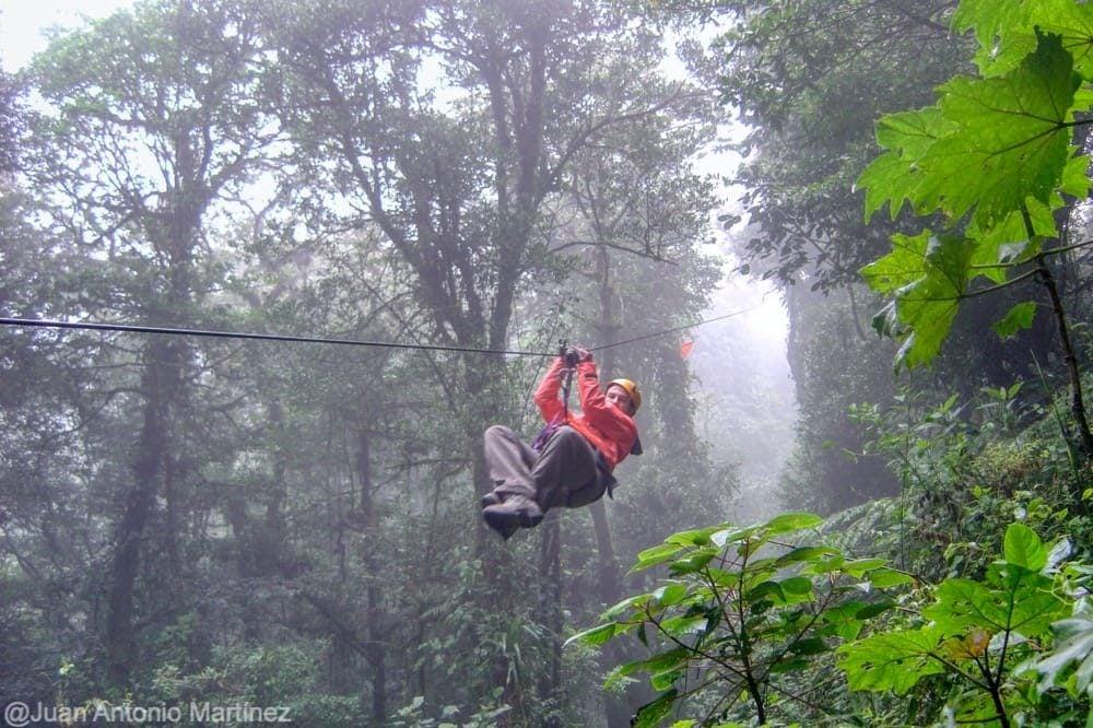 Tirolina en Monteverde