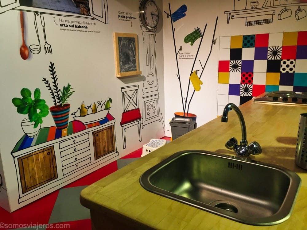 Cocina en museo dei bambini