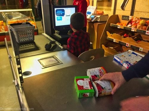 caja de supermercado en el museo dei bambini