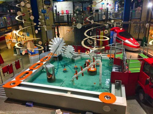 juegos de agua en el museo dei bambini