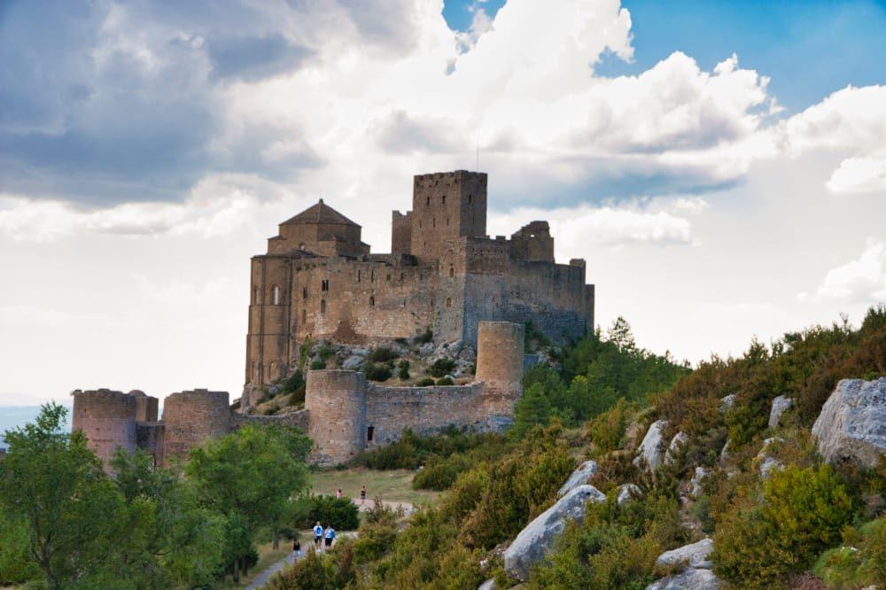 Vista panorámica del castillo de Loarre