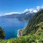 vista de parte norte isla de Madeira