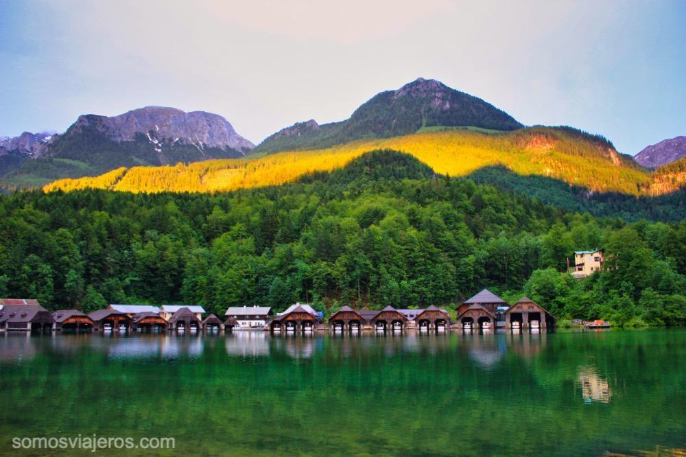 atardecer en el lago de Konigssee