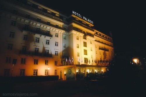 fachada principal del hotel palacio