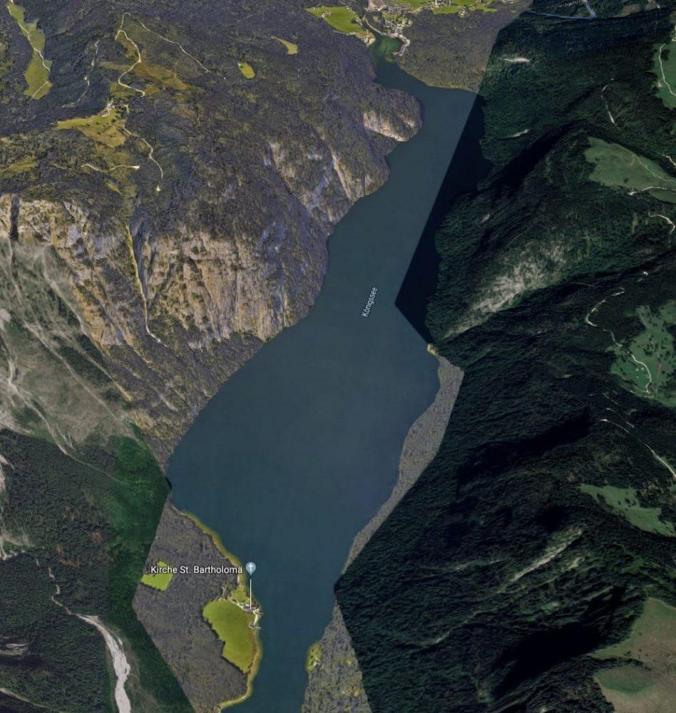 mapa vista aerea lago Konigssee