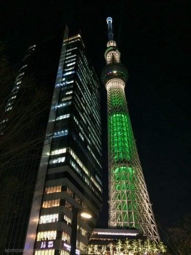 iluminación Skytree Tokyo