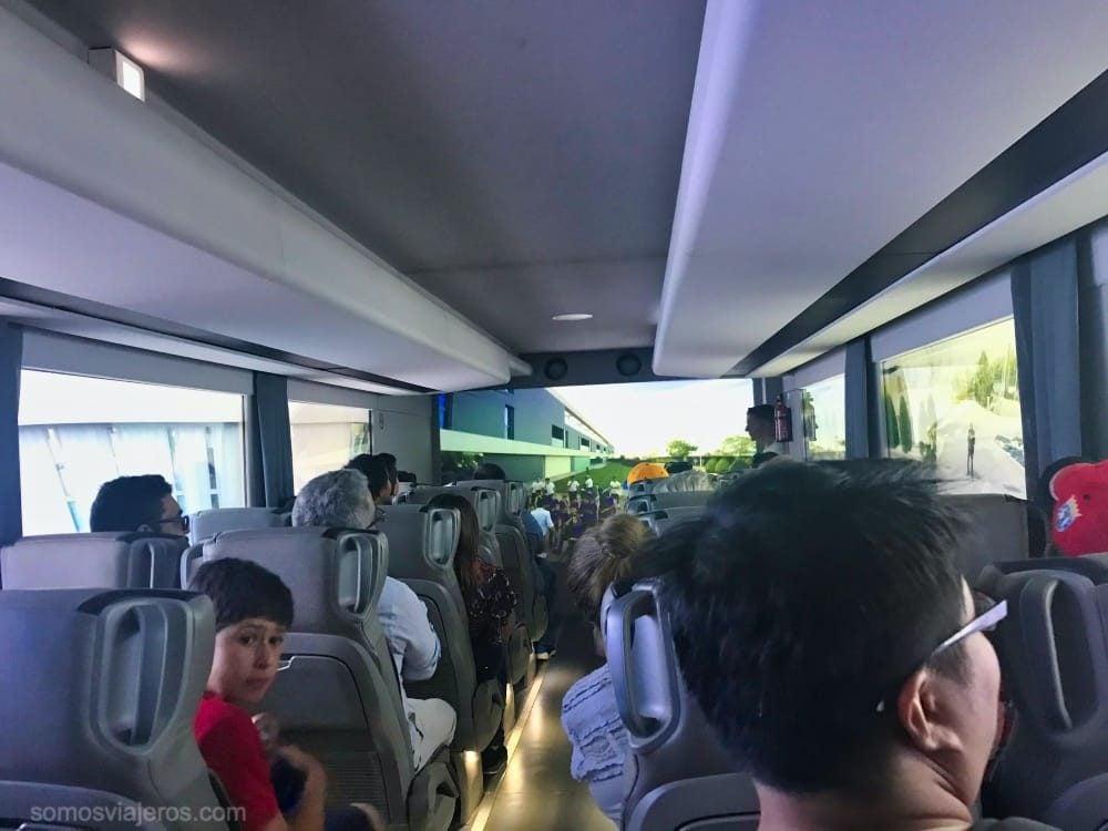 autobús virtual en el Tour del Bernabéu
