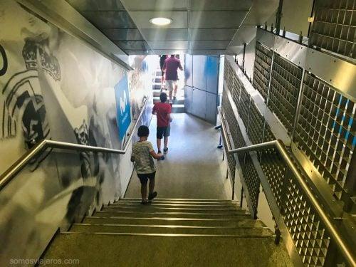 túnel de vestuarios del Bernabéu