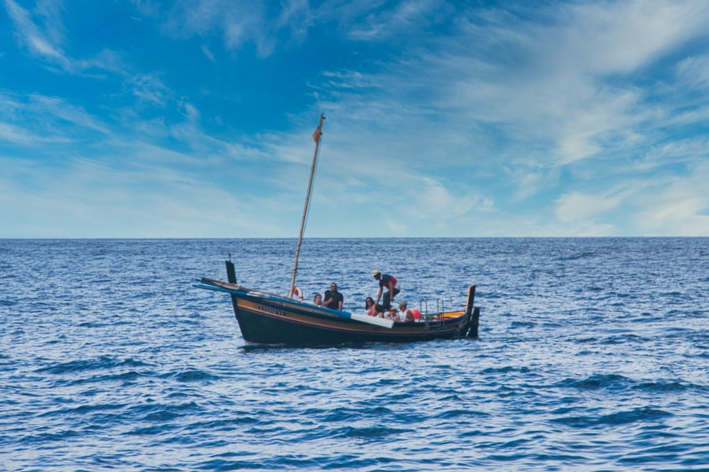 Barco en la Faja dos Padres