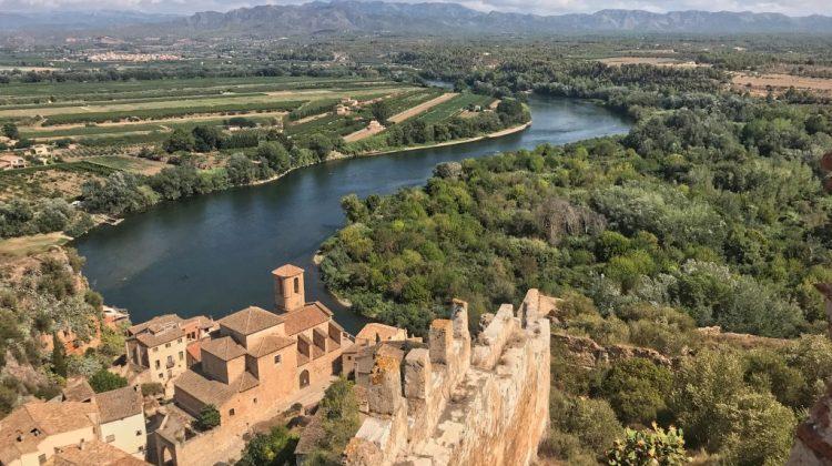 vista desde el castillo de Miravet