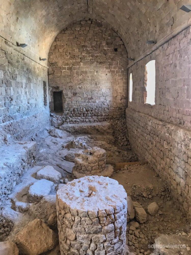 Refectorio del castillo de Miravet