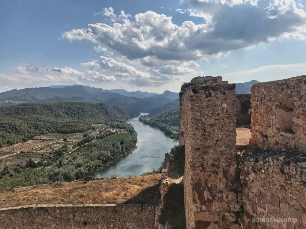 vistas desde el castillo de Miravet